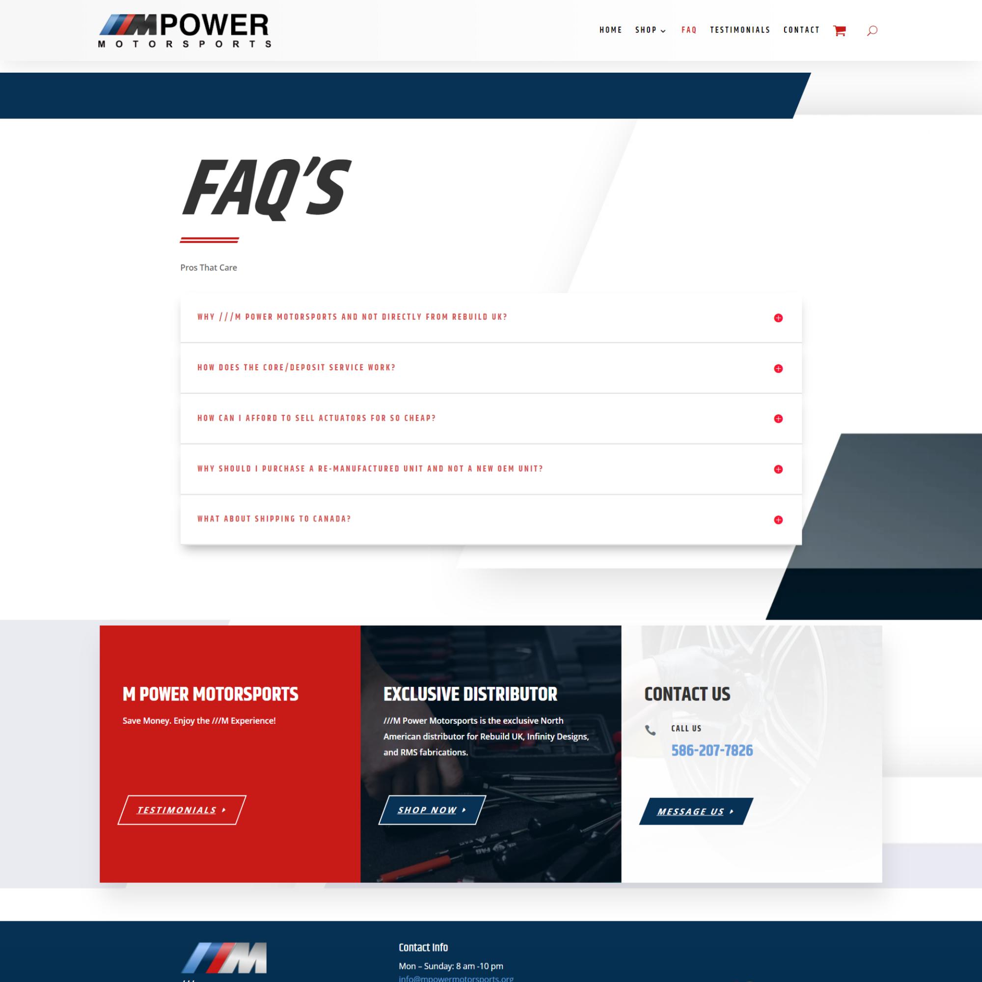 mpowermotorsports FAQ's