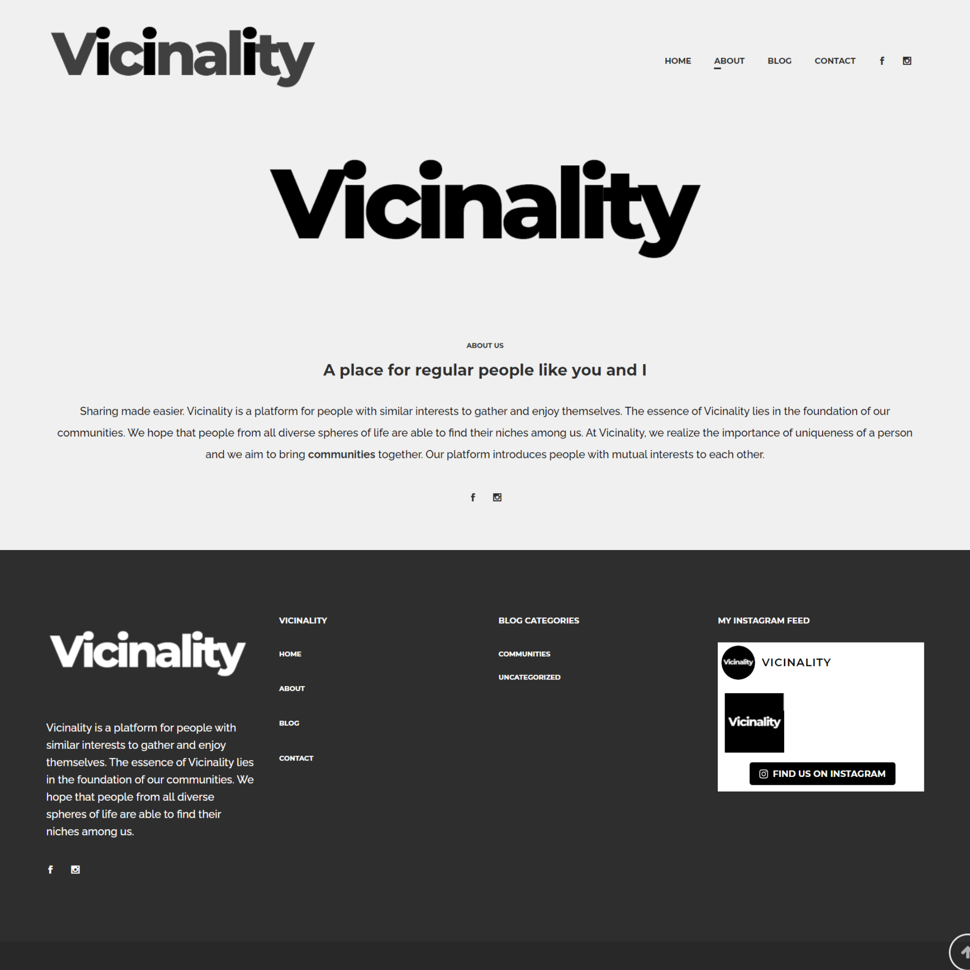 vicinality - about