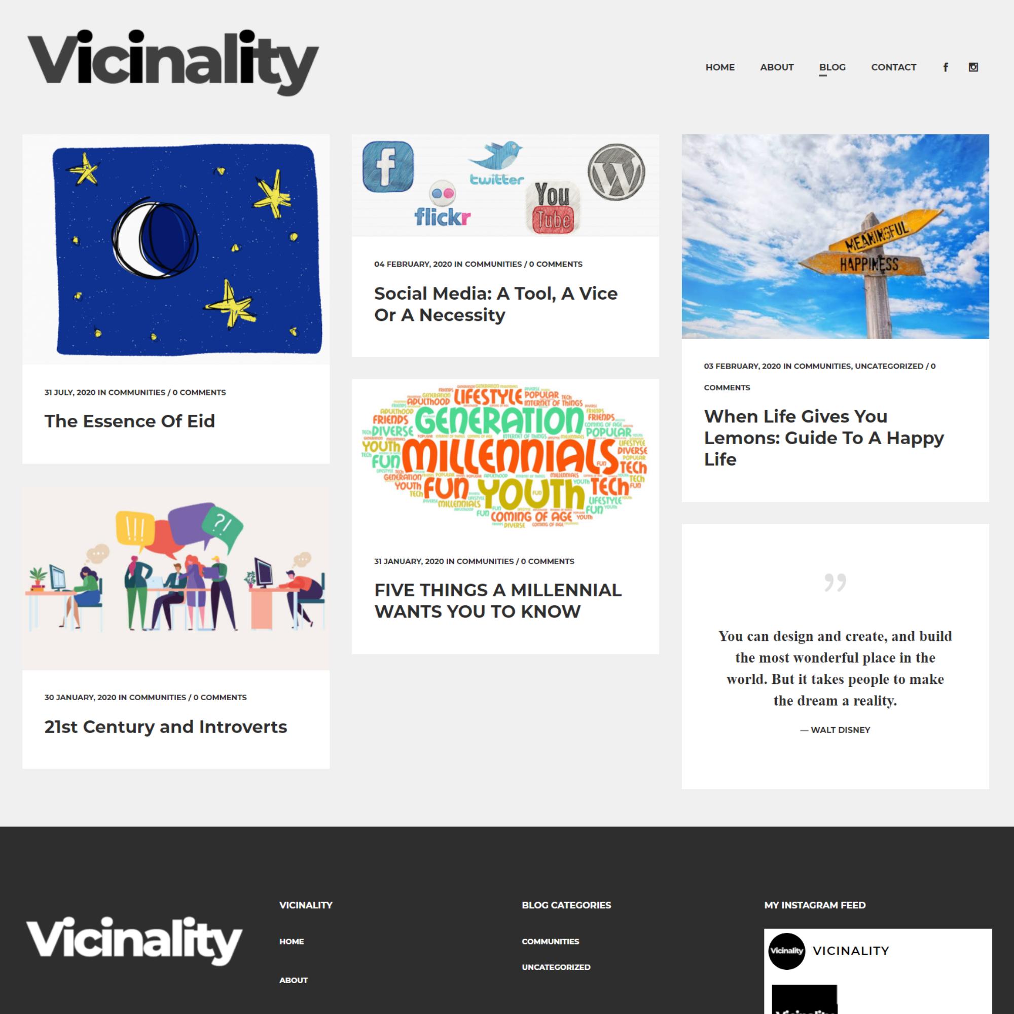 vicinality - blog